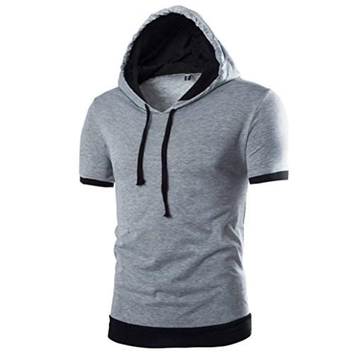 kwok-summer-mens-short-sleeved-t-shirt-fashion-hooded-solid-blouse-m-gray