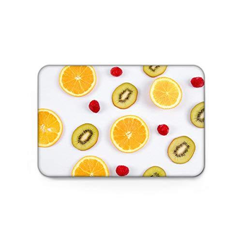 Indoor Doormats Non-Slip Rubber Entrance Floor Mats Area Rug, Orange Kiwifruit Raspberry Fruit Kitchen Runner Bathroom Absorbent Front Door Mat Shoes Scraper Machine Washable Carpet - 20