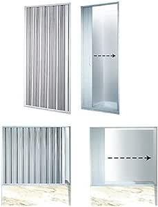 La mampara ducha plegable puerta Ancho ajustable 140 - accesorio 155 cm: Amazon.es: Bricolaje y herramientas