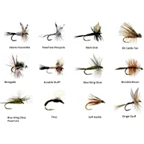 14 Red 18 Flies in Olive and Black 12 Feeder Creek Fly Fishing Flies 3D Glass CHIRONOMID Assortment for Trout and Other Freshwater Fish Sizes 10