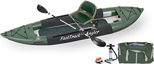 Sea Eagle 385fta FastTrack Inflatable Kayak Swivel Seat Fishing Rig Package