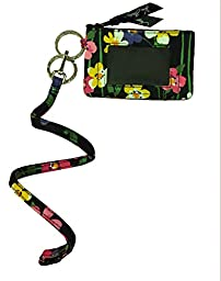 Vera Bradley Zip Id Case and Lanyard in Wildflower Garden