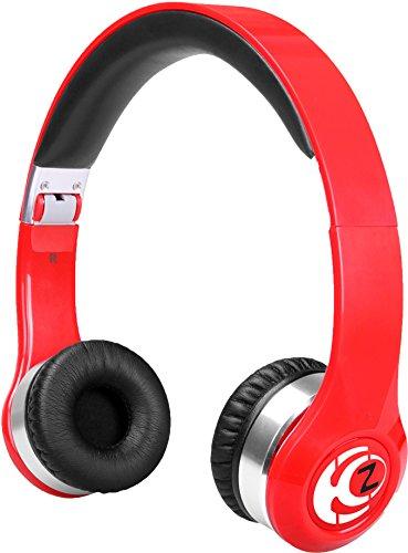 Krankz Wireless Bluetooth On-Ear Headphones (Red)
