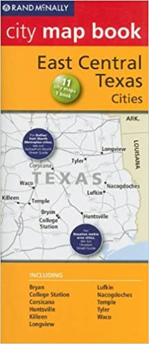 Map Of Central Texas Cities.Champion Map East Central Texas Cities Rand Mcnally City Map Books