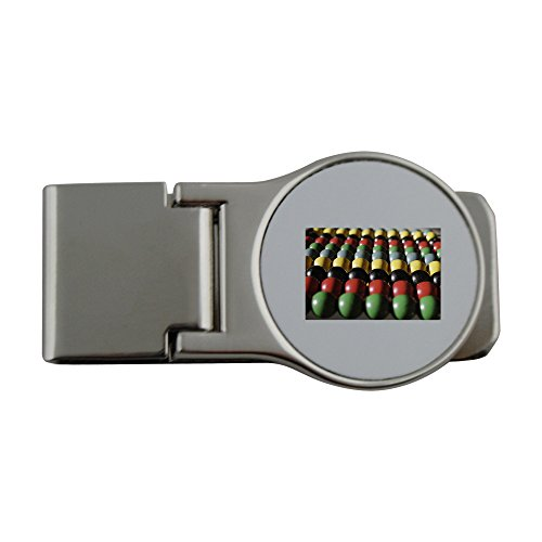 Price comparison product image Metal money clip with Colorful abacus