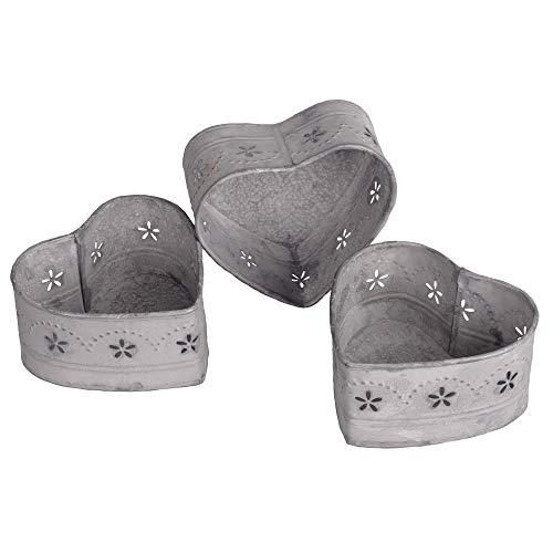 Heart Smiles Sweetheart Tealight Candle Holder, Set of 3, 4.5