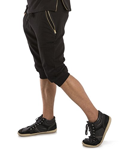 Terry Zip Pocket Pant (Vibes Gold Label Men's Black French Terry 18