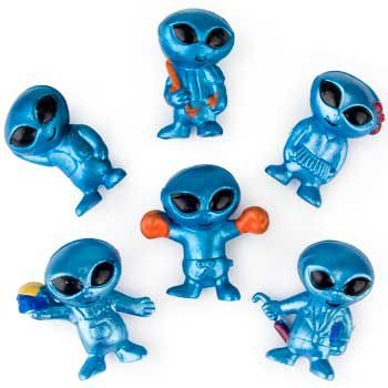 Fun Express Out-of-This-World Vinyl Aliens Action Figure (4 Dozen)