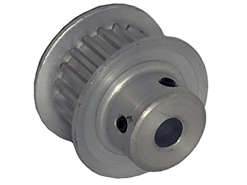 BandB Manufacturing 16T2.5/20-2 Timing Pulley, 20 Teeth, T2.5 mm Pitch, 1 Flange and Hub Serves as Second Flange
