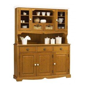 Schönen Möbel nicht Liebe–Buffet Highboard Kiefer honig 5Türen 5Schubladen Oberseite weiß