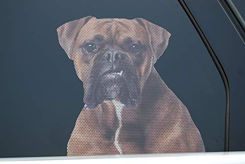 Doggie in the Window car and truck window dog decal - Boxer