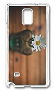 MOKSHOP Adorable Daisy in Bottle Hard Case Protective Shell Cell Phone Cover For Samsung Galaxy Note 4 - PC Transparent by Maris's Diary