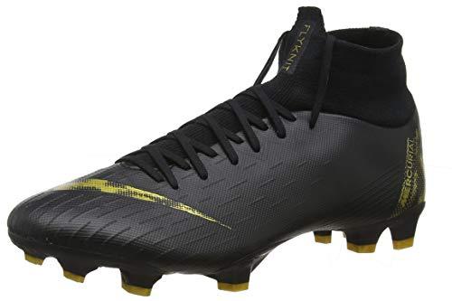 Nike Superfly 6 Pro FG Black/MTLC Vivid Gold (Men's) (9 Men's US) ()