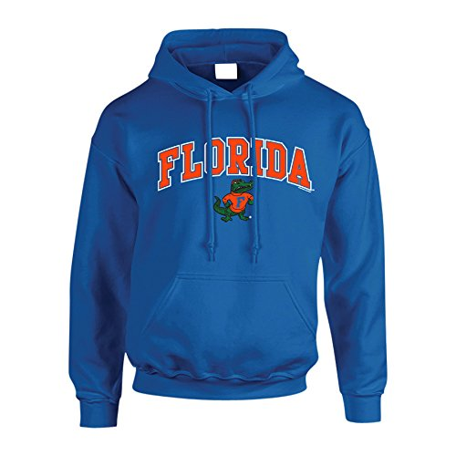 Elite Fan Shop NCAA Men's Florida Gators Hoodie Sweatshirt Team Color Arch Florida Gators Royal X Large