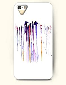 OOFIT Phone Case for Apple iPhone 4/4S -- People Walking In The Rain -- Oil Painting