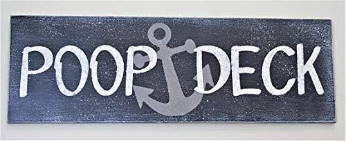 Ruskin352 Poop Deck Nautical Nursery Decor Boys Nursery Plaque Sign Girls Nursery Plaque Sign Wood Nursery Plaque Sign Home Decor Wall Decor (Deck Decor Small)