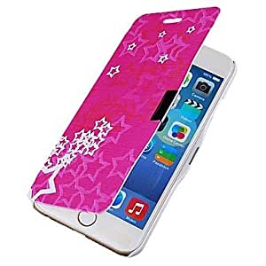LCJ Five-pointed Star Pattern Magnetic Flip Full Body Case with Hole for iPhone 6