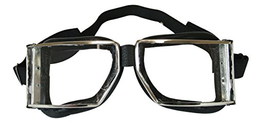 Furiosa Mad Max Costume (Historical Emporium Men's Richthofen Aviator Clear Goggles Black)