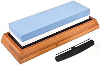1000/6000 粒度 砥石 セット, 両面 高品質 砥石 包丁研ぎ 高密度 白いコランダム-1000/6000-白青