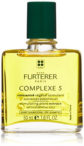 Rene Furterer COMPLEXE 5 Stimulating Plant Extract, Pre-Shampoo Detox Scalp Treatment, 1.6 -