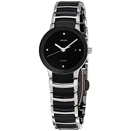 Rado-R30935712-Centrix-Ceramic-Ladies-Watch-Black-Dial