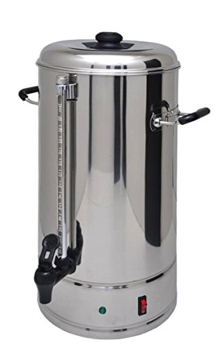 Steel Urn - SYBO Commercial Grade Stainless Steel 15 Liters 100 Cups Coffee Maker and Hot Water Heater Urn Pot for Catering and Restaurants