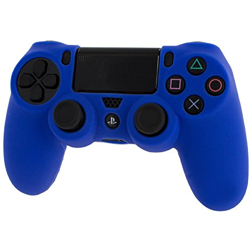 Silicone Rubber Skin Gel Case Cover for Playstation 4 PS4 Controller (Blue) - 1