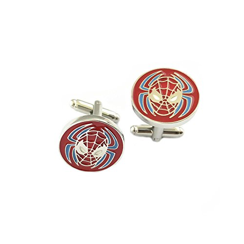 League Of Legends Brand Costume (Cosplay Spider-Man Marvel Men's Boys Groomsmen Cuff Links w/Gift Box by Superheroes Brand)