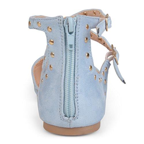 Collezione Journee Da Donna Con Borchie In Finta Pelle Scamosciata E Cinturini Blu