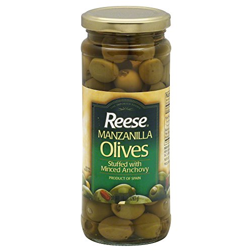 (Reese Manzanilla Olives Stuffed with Minced Anchovy 10 oz (Pack of 3))