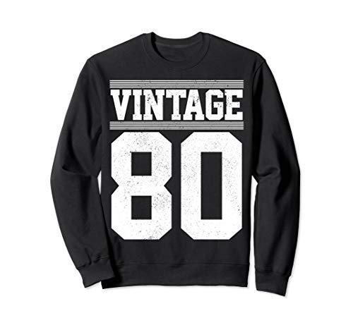 40th Birthday Gift Vintage 1980 Retro Jersey Number 40 Years Sweatshirt