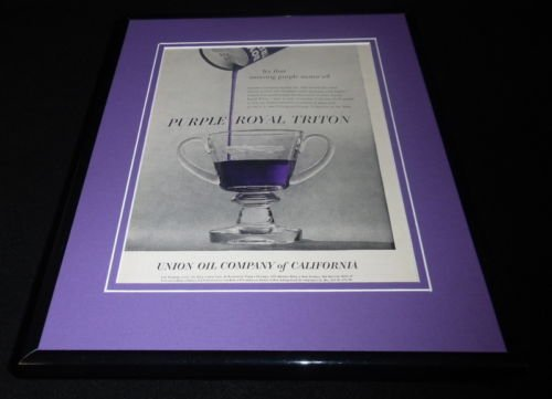 1956 Union Oil Purple Royal Triton Framed 11x14 ORIGINAL Vintage Advertisement