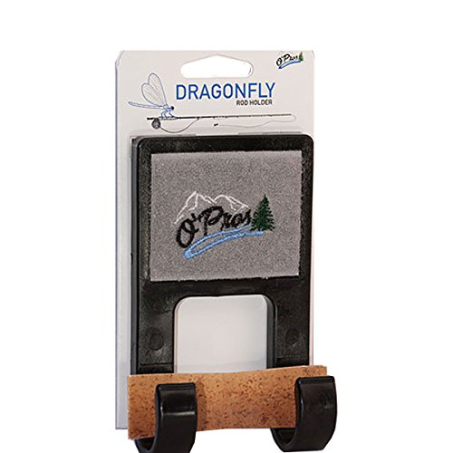O'Pros Dragonfly Belt Clip Rod Holder Black (Fly Holder)