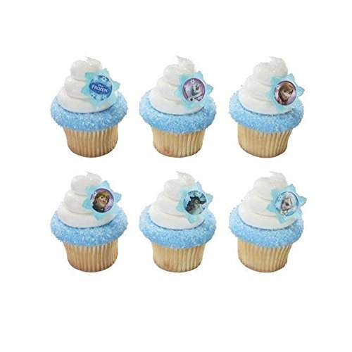 Frozen Disney Anna Elsa Olaf Cake Cupcake Rings and Party Favors NEW