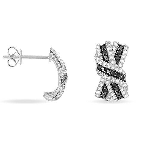 HISTOIRE D'OR - Boucles d'Oreilles Nola Or Blanc Noeuds - Femme - Or blanc 375/1000