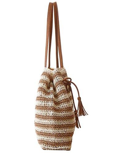 Flada Bag White Beige Bag 021 Size Backpack Woman One White qOqfU