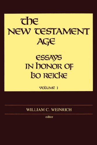 The New Testament Age: Essays in Honor of Bo Reicke (2-Volume Set)