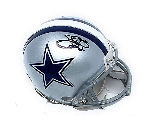 Emmitt Smith Dallas Cowboys Signed Autograph Mini Helmet Steiner Sports Certified