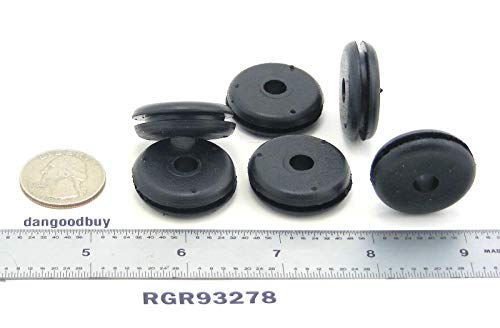 Rubber Grommet Fits 7/8'' Panel Hole in 3/32'' Thick Panel Has 9/32'' Inch Center Opening RGR93278 by dangoodbuy (Image #2)