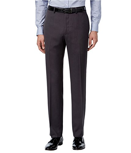 Calvin Klein Mens Slim Fit Dress Slacks Grey 42x32