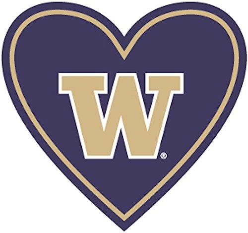 UW Huskies Heart Sticker | Heart-Cut Decal | University of Washington