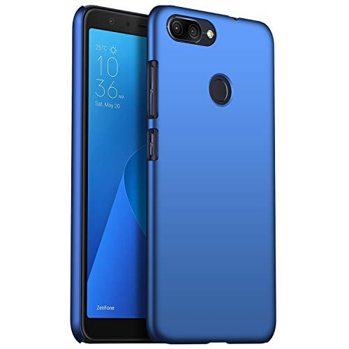 SHIWELY Ultra Thin ASUS Zenfone Max Plus ZB570TL Case, Hard Polycarbonate PC Slim Fit Silky Smooth Phone Cover Case with Matte Finish for ASUS Zenfone Max Plus ZB570TL(Blue)
