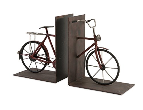 IMAX 74435-2 Renee Bicycle Book Ends, Set of (Bike Bookends)