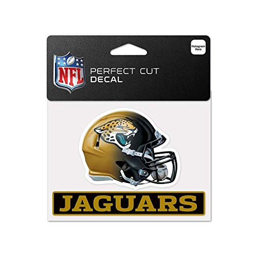 Bek Brands Licensed Professional Football Teams 4 x 5 Cling Decal for Cars, Windows and More, Helmet (Jacksonville ()