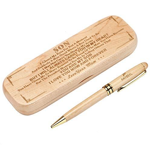 (FAYERXL Engraved Wood Pen Case for Daughter Personalised Roller Ballpen,Ballpoint Pen,Ball Pen,Refillable Pen,Refill Pen ...)
