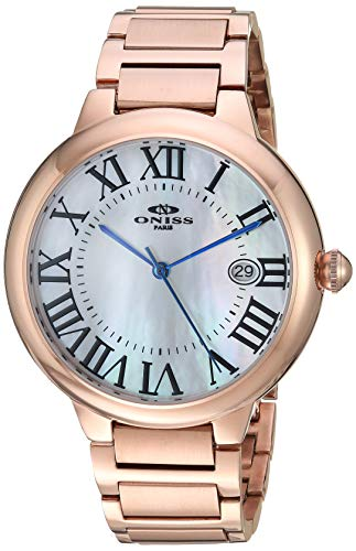 Adee Kaye Men's Japanese Automatic Stainless Steel Watch, Color:Rose Gold-Toned (Model: ON2222-MRGWT)