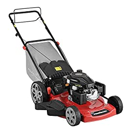 PowerSmart DB2322S Lawn Mower, Black and red 94 Powered by 196 cc engine delivering the right amount of power in a compact, lightweight package Easy pull starting 3-In-1 bag, side discharge and mulching capability allows you to spread grass clippings to the side, returning key nutrients to your lawn so your grass can grow healthy and thick