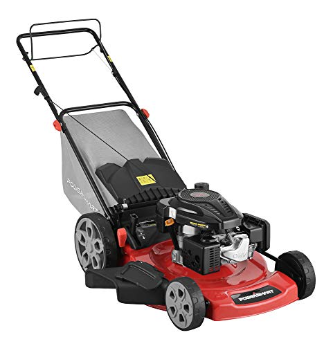 PowerSmart DB2322S Lawn Mower, Black and red