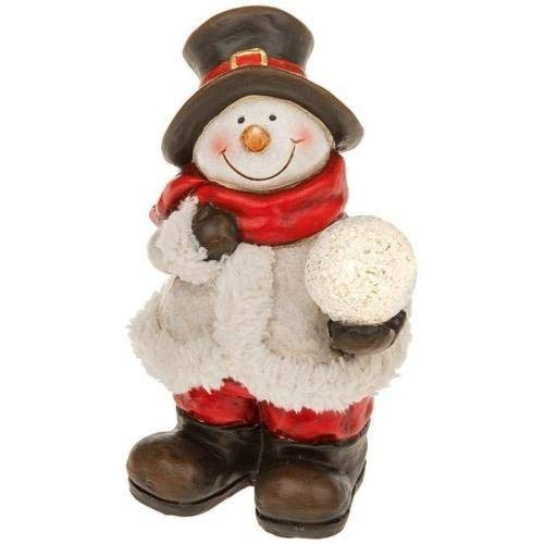 Hunky Dory Gifts Christmas Snowball Snowman Figure LED Light Xmas Ornament New Boxed