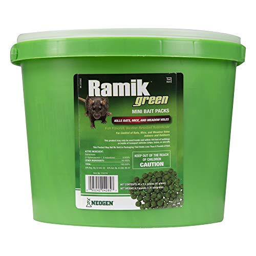 NEOGEN RODENTICIDE 45-Pack Ramik Rat and Mouse Bait Pail